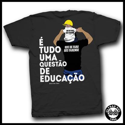 Imagens de T-shirt Educação | Cinza | 2017
