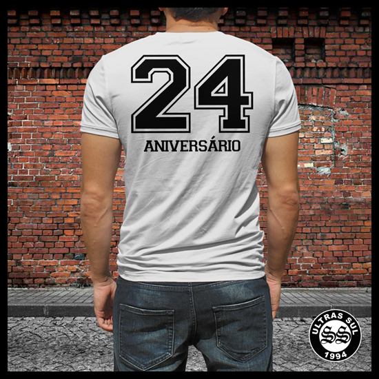 Imagens de T-Shirt 24º Aniversário | Cinza | 2018
